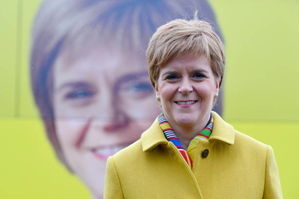 GBR: Nicola Sturgeon Kicks Off The SNP Campaign Bus Tour