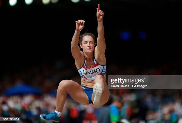 Scotland's Jade Nimmo during the Women's Long Jump qualifying at Hampden Park during the 2014 Commonwealth Games in Glasgow