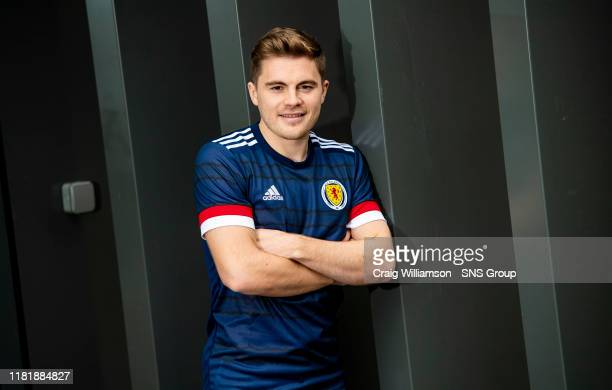 Scotlands James Forrest during a press conference at The Oriam on November 12 in Edinburgh, Scotland.