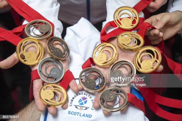 Scotland's judo team of Matt Purssey Chris Sherrington Euan Burton Andrew Burns Sarah Adlington John Buchanan Patrick Dawson Sally Conway Connie...
