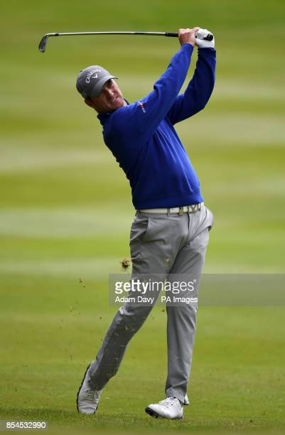 Scotland's Marc Warren during day two of the BMW PGA Championship at the Wentworth Club Surrey