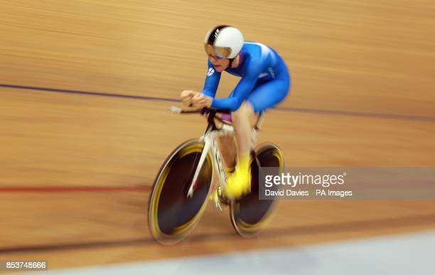Scotland's Mark Stewart during the Men's 4000m Individual Pursuit at the Sir Chris Hoy Velodrome during the 2014 Commonwealth Games in Glasgow