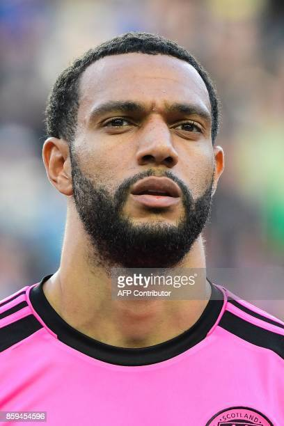 Scotland's midfielder Matthew Phillips looks on prior to the FIFA World Cup 2018 qualification football match between Slovenia and Scotland at...