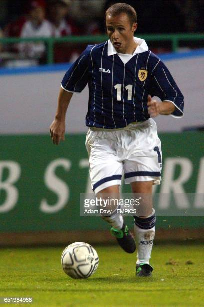 Scotland's Paul Devlin in action on his debut