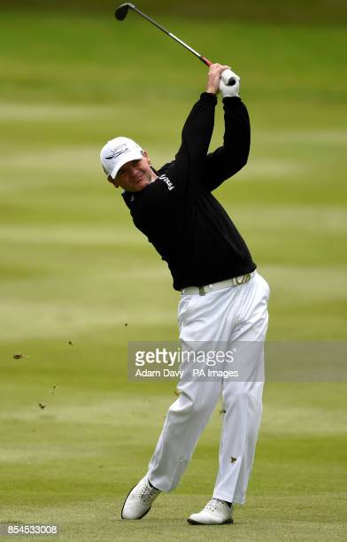 Scotland's Paul Lawrie during day two of the BMW PGA Championship at the Wentworth Club Surrey
