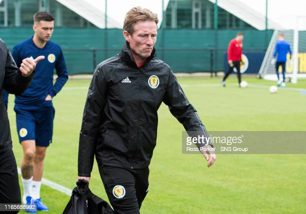 Scotland's Scot Gemmill is pictured during a Scotland Under 21 media session at Norton House on September 2 in Edinburgh Scotland