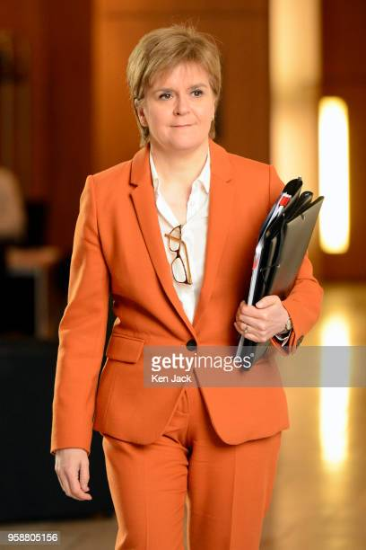 Scotland'sFirst Minister Nicola Sturgeon on the way to a debate in the Scottish Parliament which is expected to refuse the Parliament's legislative...