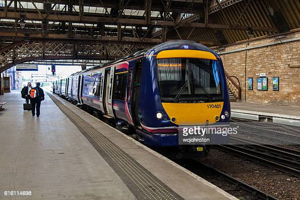 scotrail train class 170 - perth scotland stock pictures, royalty-free photos & images