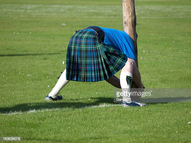 Scotsman preparing for a caber toss