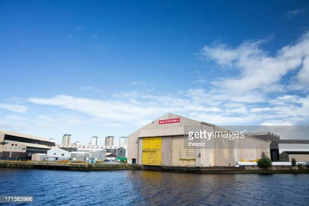 bae scotstoun shipyard - theasis stockfoto's en -beelden