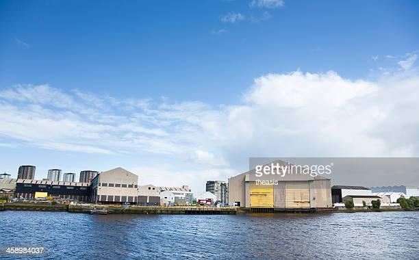 bae scotstoun shipyard - theasis stock pictures, royalty-free photos & images