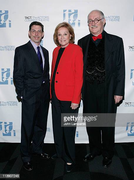 Scott Alan Evans Cynthia Harris and Simon Jones attend the TACT/The Actors Company Theatre Spring Gala at The Edison Ballroom on May 9 2011 in New...