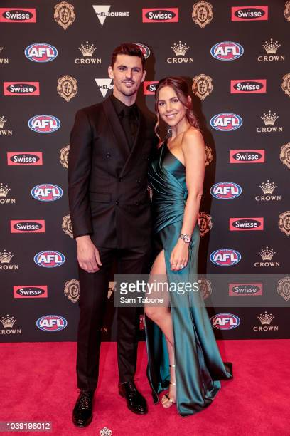 Scott and Alex Pendlebury attends 2018 Brownlow Medal at Crown Entertainment Complex on September 24 2018 in Melbourne Australia