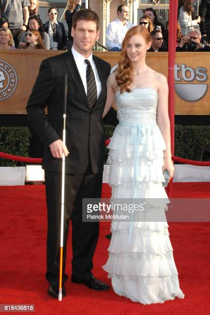 J Scott and Deborah Ann Woll attend 16th Annual Screen Actors Guild Awards Arrivals at Shrine Auditorium on January 23 2010 in Los Angeles California