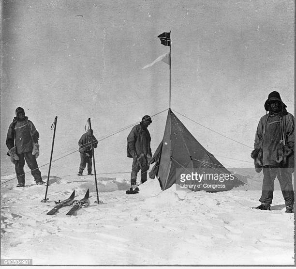 Scott and his team at the South Pole where Roald Amundsen and his team from Norway arrived a month earlier None of Scott's team would survive the...