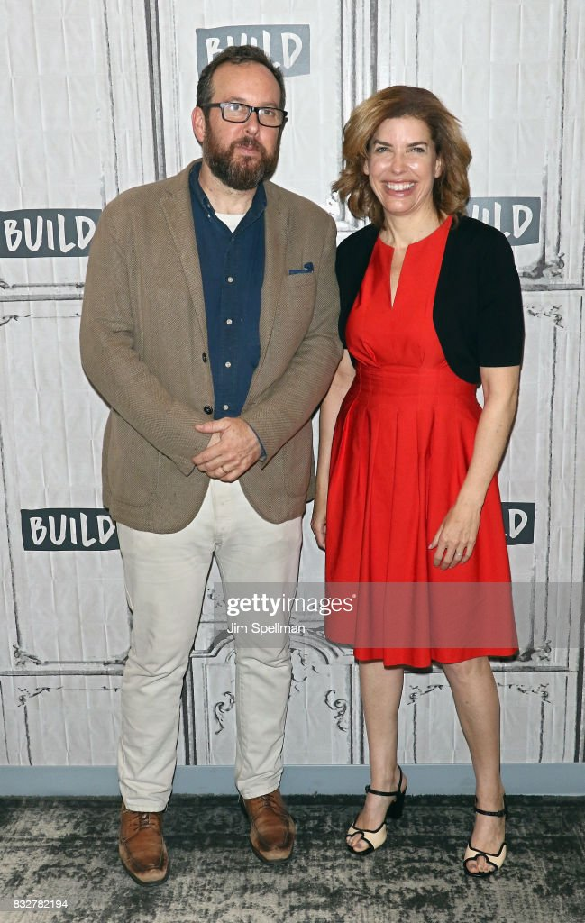 A.O. Scott and Julie Menin attend Build to discuss The One Film, One New York campaign at Build Studio on August 16, 2017 in New York City.