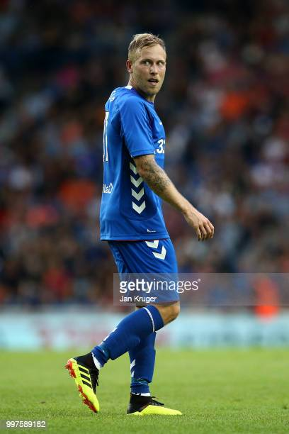 Scott Arfield of Rangers in action during the UEFA Europa League Qualifying Round match between Rangers and Shkupi at Ibrox Stadium on July 12 2018...