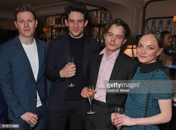 Scott Arthur Josh O'Connor Charlie Heaton and Levi Heaton attend Grey Goose Vodka and GQ Style's dinner in celebration of film and fashion at...