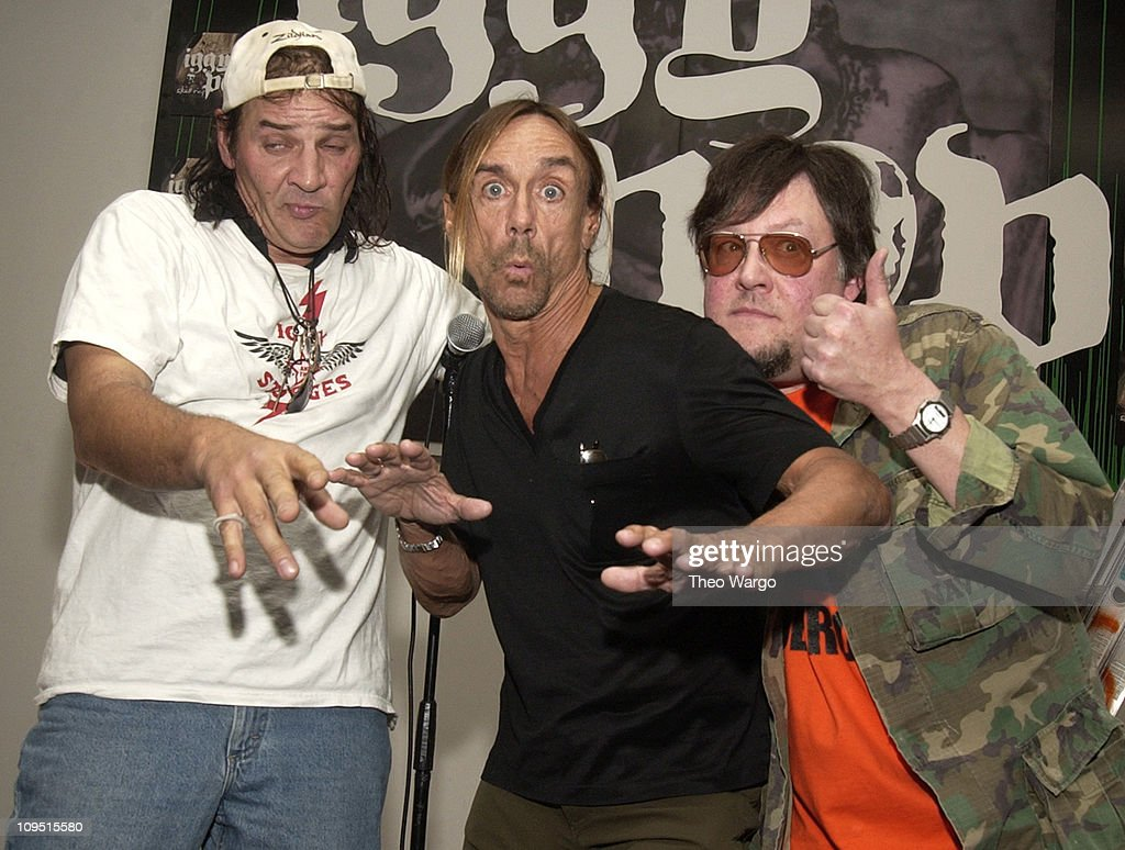 Scott Asheton, Iggy Pop and Ron Asheton of The Stooges