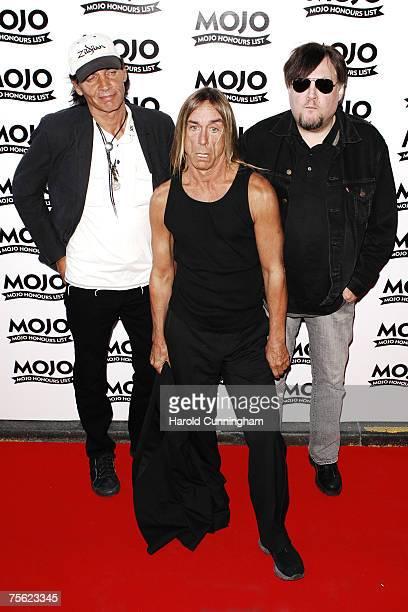 Scott Asheton Iggy Pop and Ron Asheton of The Stooges