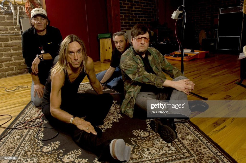 Scott Asheton, Iggy Pop, Mike Watt and Ron Asheton of the Stooges at the Electrical Audio in Chicago, Il