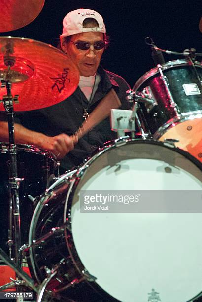 Scott Asheton of Iggy Pop and The Stooges performs on stage on Day 1 of Azkena Rock Festival 2006 at Recinto Mendizabala on August 31 2006 in...