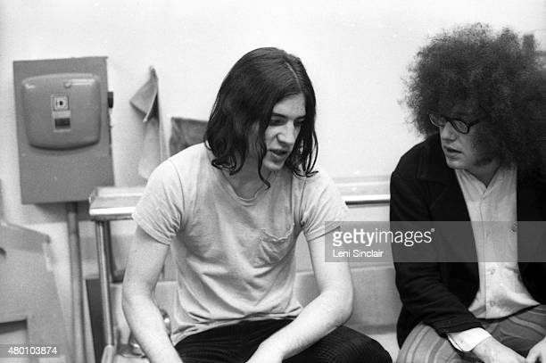 Scott Asheton of The Stooges and Rob Tyner of MC 5 backstage at the Birmingham Palladium in Birmingham Michigan