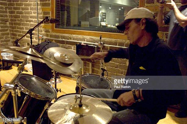 Scott Asheton of the Stooges during Iggy Pop and The Stooges in the Recording Studio October 17th 2006 at Electrical Audio in Chicago Illinois United...