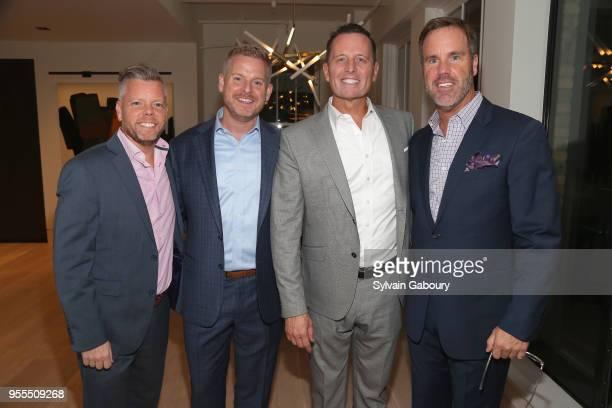 Scott Ashley Matt Lashey Ambassador Richard Grenell and Thomas Durein attend Ambassador Grenell Goodbye Bash on May 6 2018 in New York City