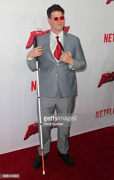 J Scott attend the premiere of Netflix's Marvel's Daredevil at Regal Cinemas LA Live on April 2 2015 in Los Angeles California