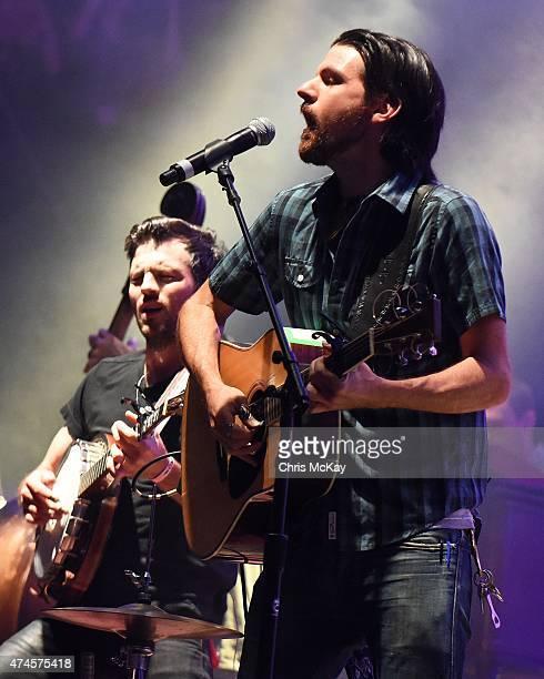 Scott Avett and Seth Avett of Avett Brothers perform during day 2 of the 3rd Annual Shaky Knees Music Festival at Atlanta Central Park on May 9, 2015...