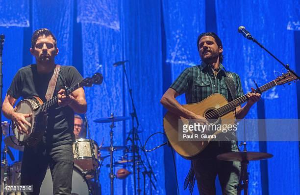 Scott Avett and Seth Avett of Avett Brothers perform on stage during day 2 of the 3rd Annual Shaky Knees Music Festival at Atlanta Central Park on...