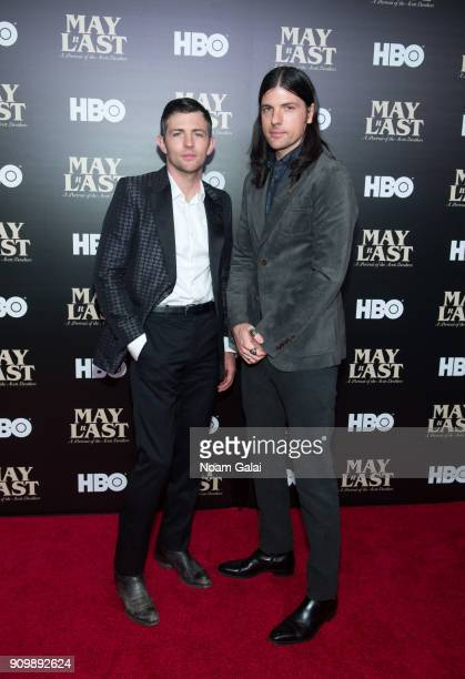 Scott Avett and Seth Avett of The Avett Brothers attend HBO's 'May It Last A Portrait of The Avett Brothers' NYC premiere on January 24 2018 in New...