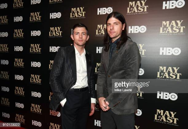 Scott Avett and Seth Avett of the Avett Brothers attend the New York Premiere of 'May It Last A Portrait Of The Avett Brothers' at Florence Gould...