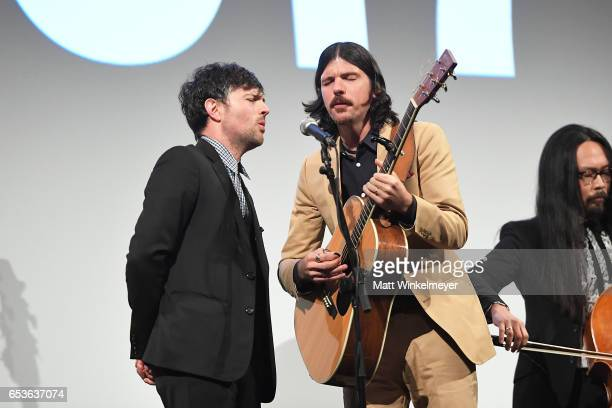 Scott Avett and Seth Avett of The Avett Brothers perform during the 'May It Last A Portrait Of The Avett Brothers'premiere 2017 SXSW Conference and...
