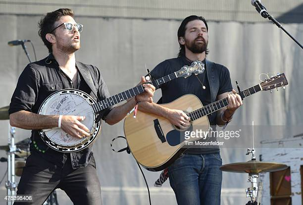 Scott Avett and Seth Avett of the Avett Brothers performs during the Bottle Rock Napa Valley Music Festival at Napa Valley Expo on May 30 2015 in...