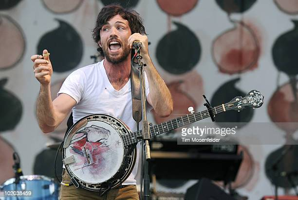 Scott Avett of The Avett Brothers performs as part of the 2010 Bonnaroo Music and Arts Festival on June 12 2010 in Manchester Tennessee