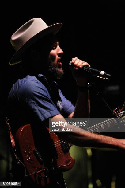 Scott Avett of The Avett Brothers performs at Red Rocks Amphitheatre on July 7 2017 in Morrison Colorado