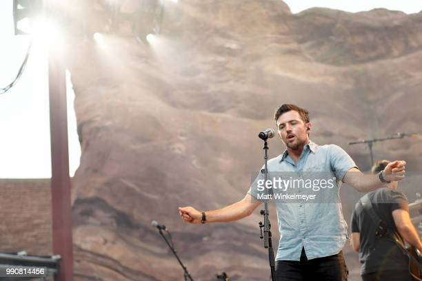 MORRISON CO JULY 1 Scott Avett of The Avett Brothers performs at Red Rocks Amphitheatre on July 1 2018 in Morrison Colorado