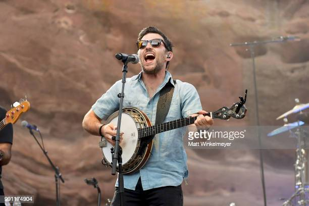Scott Avett of The Avett Brothers performs at Red Rocks Amphitheatre on July 1 2018 in Morrison Colorado