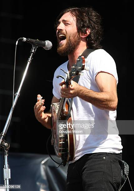 Scott Avett of The Avett Brothers performs during Day 3 of the 2010 Hullabalou Music Festival at Churchill Downs on July 25, 2010 in Louisville,...