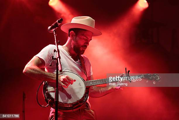 Scott Avett of the Avett Brothers performs during G Fest at Hatbox Field on June 17 2016 in Muskogee Oklahoma