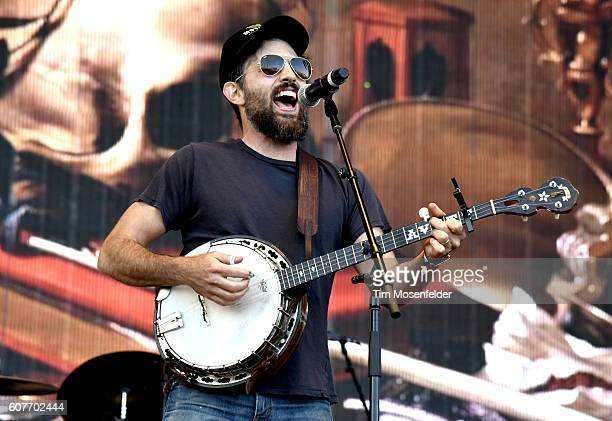 Scott Avett of The Avett Brothers performs during the Kaaboo Del Mar music festival on September 18 2016 in Del Mar California