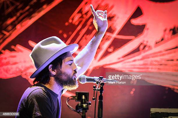 Scott Avett of The Avett Brothers performs on Day 2 of the CityFolk Festiva at Lansdowne Park on September 17 2015 in Ottawa Canada