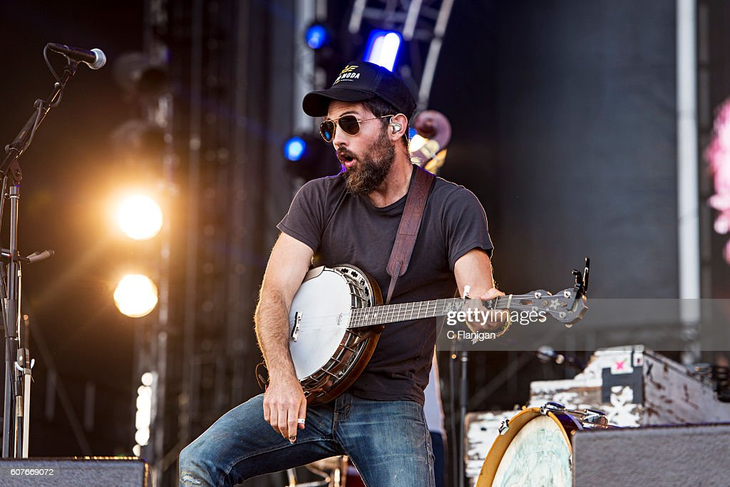 Scott Avett of The Avett Brothers performs on the Sunset Cliffs Stage during the 2016 KAABOO Del Mar at the Del Mar Fairgrounds on September 18, 2016 in Del Mar, California.