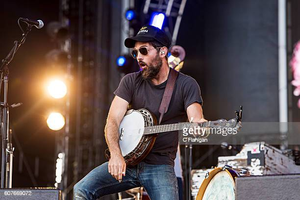 Scott Avett of The Avett Brothers performs on the Sunset Cliffs Stage during the 2016 KAABOO Del Mar at the Del Mar Fairgrounds on September 18 2016...
