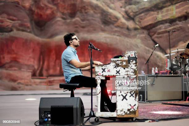 MORRISON CO JULY 1 Scott Avett of The Avett Brothers perfroms at Red Rocks Amphitheatre on July 1 2018 in Morrison Colorado