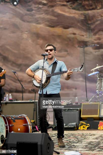 Scott Avett of The Avett Brothers perfroms at Red Rocks Amphitheatre on July 1 2018 in Morrison Colorado