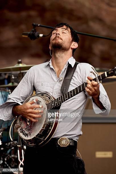 Scott Avett performing with the 'Avett Brothers' at Red Rocks Amplitheater in Morrison Colorado on September 2 2010