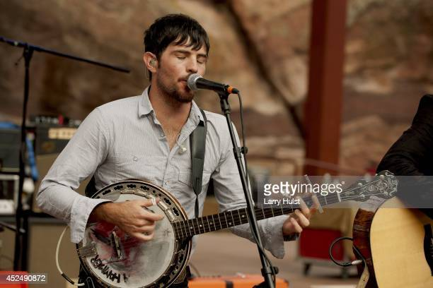 Scott Avett performing with the 'Avett Brothers' at Red Rocks Amplitheater in Morrison Colorado on September 2 2010